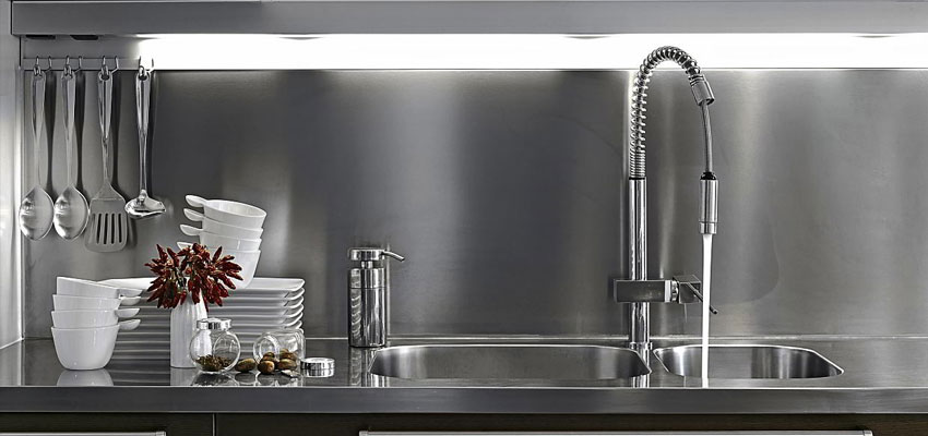 Simple crdence en inox with crdence inox belgique for Miroir sur mesure belgique